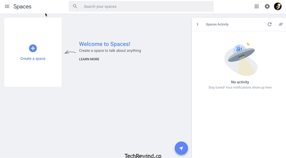 Google spaces 2016 webpage design ready Google Spaces